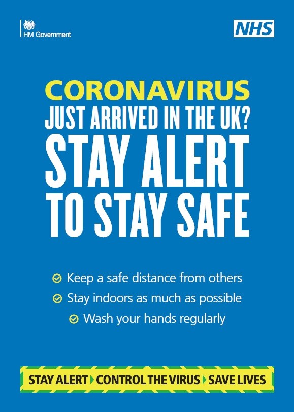 Just arrived in the UK? Stay alert to stay safe (A5 leaflet)