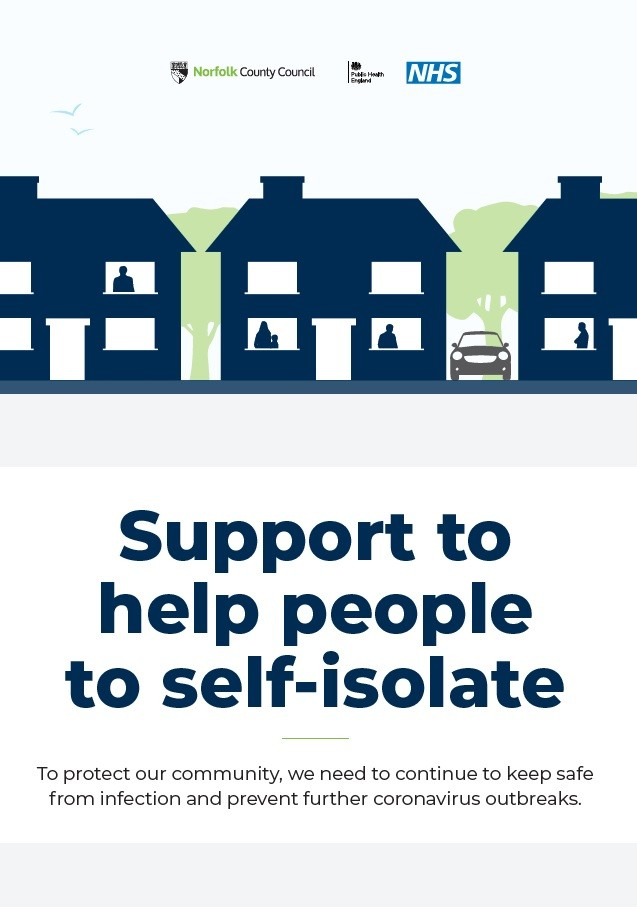Support to help people to self isolate (A5 leaflet)