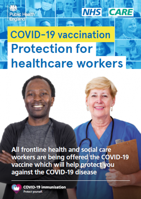 COVID 19 vaccination - protection for healthcare workers (leaflet)