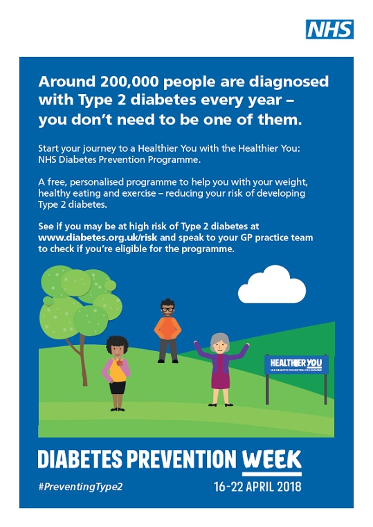Around 200,000 people are diagnosed with Type 2 diabetes every year (A4 poster)