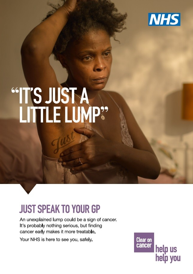 It's just a little lump (A4 poster)