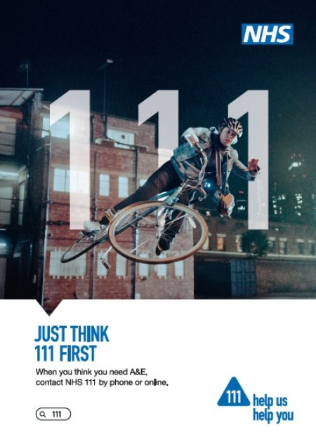 Just think 111 first - bike (A4 poster)
