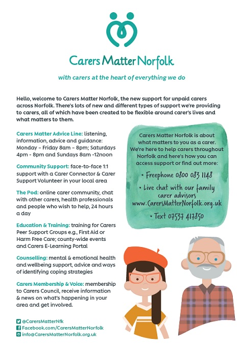 Carers Matter Norfolk - with carers at the heart of everything we do