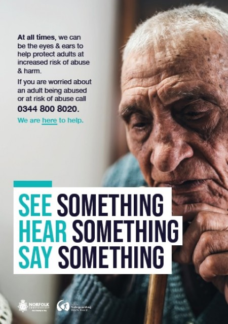 See something, hear something, say something (A4 poster)